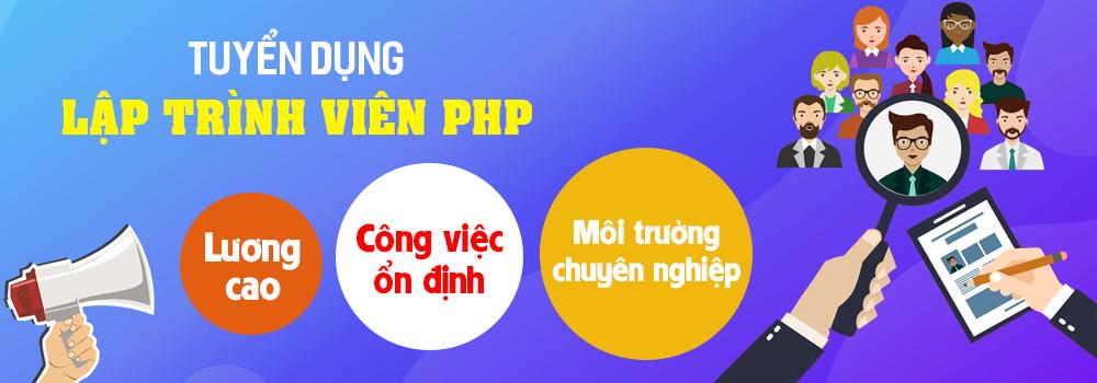 Tuyển lập trình viên PHP