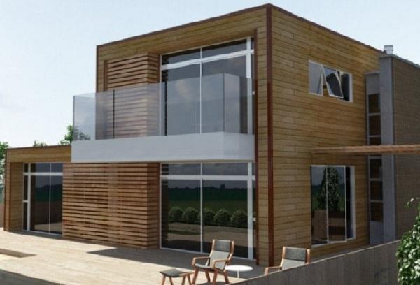 Thiết kế nhà gỗ hiện đại cao cấp - Mẫu nhà gỗ căm xe
