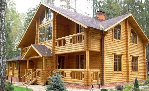Thiết kế nhà gỗ hiện đại cao cấp - Mẫu nhà gỗ mít