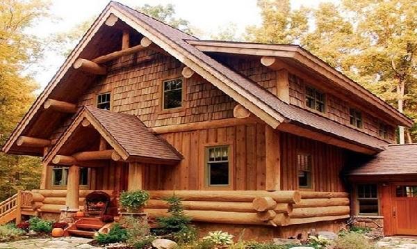 Thiết kế nhà gỗ hiện đại cao cấp - Nhà gỗ 3 gian 5 gian