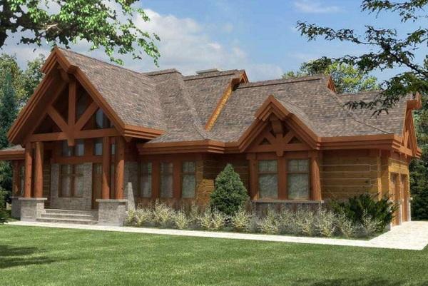 Thiết kế nhà gỗ hiện đại cao cấp - Nhà gỗ cấp 4
