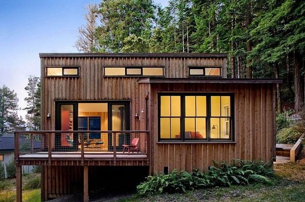 Thiết kế nhà gỗ hiện đại cao cấp - Nhà gỗ lim