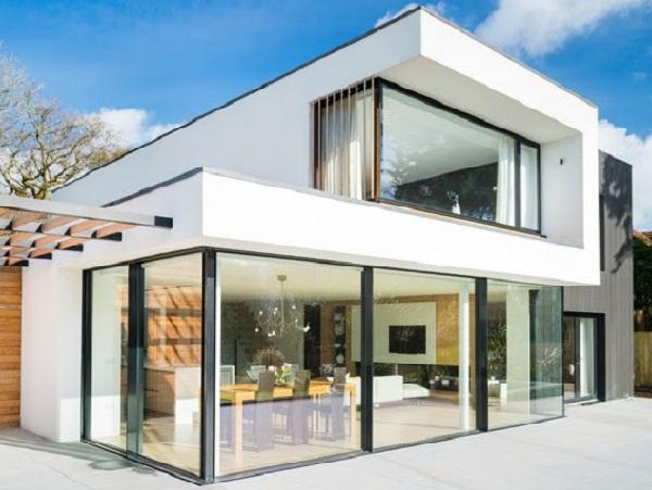 Thiết kế nhà gỗ hiện đại cao cấp - Nhà gỗ sồi trắng