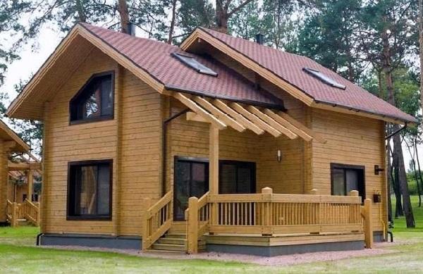 Thiết kế nhà gỗ hiện đại cao cấp - Nhà gỗ thông