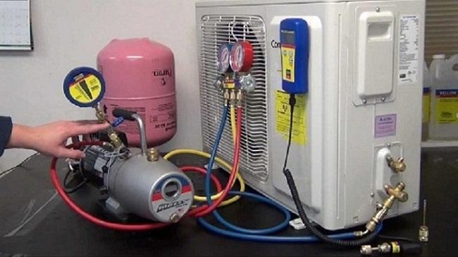 Bơm ga máy lạnh giá rẻ tại TPHCM