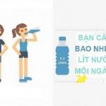 Cách tính lượng nước cần uống mỗi ngày cho cơ thể